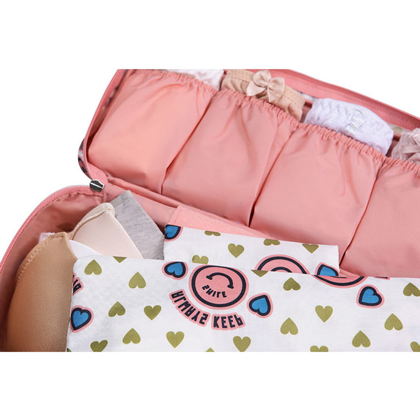 Detail of Pattern travel pouch bag for underwear and bra
