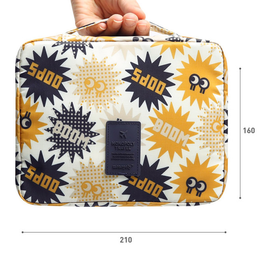 Size of Merrygrin travel mesh multi pouch bag packing aids