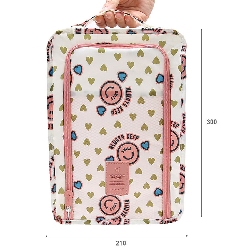 Size of Merrygrin travel zip shoes pouch bag ver.3