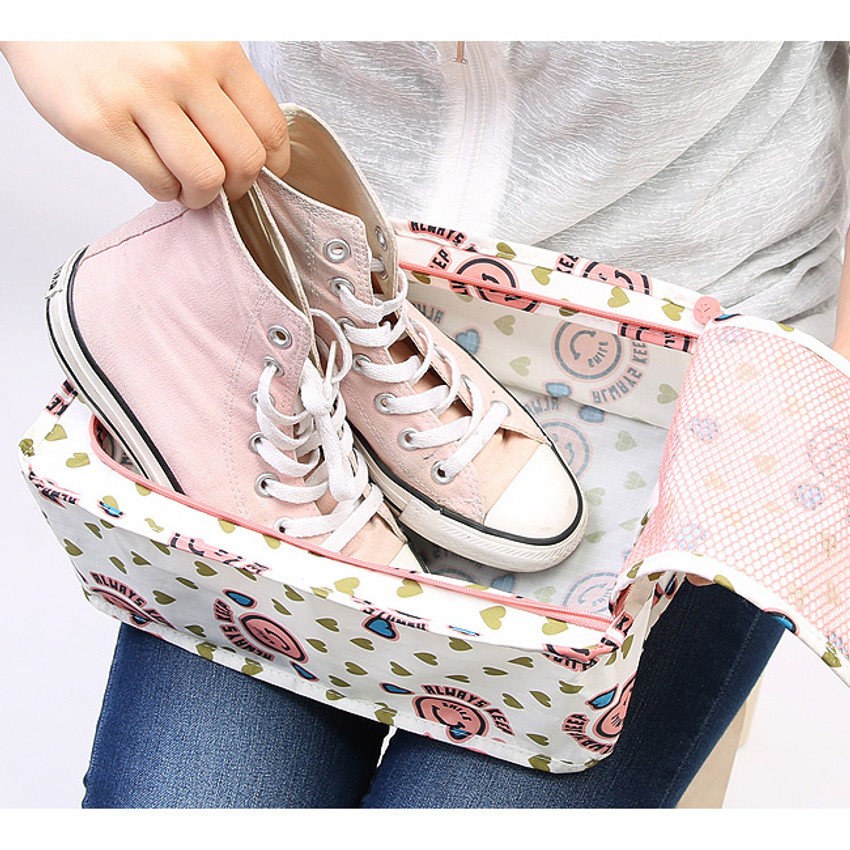 Merrygrin travel zip shoes pouch bag ver.3