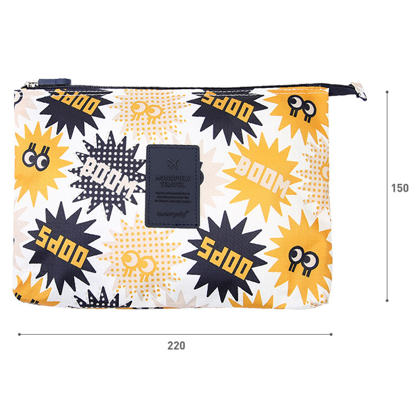 Size of Merrygrin travel mesh large zipper pouch