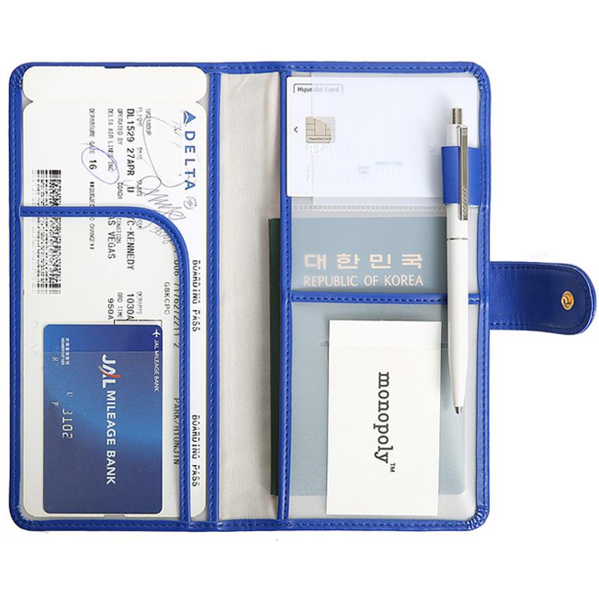 Merrygrin RFID blocking long passport case