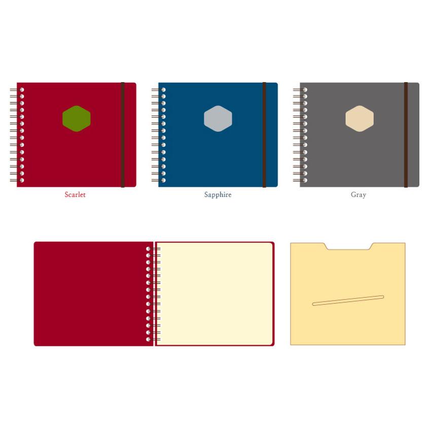 Colors of Les naturals wirebound scrap notebook