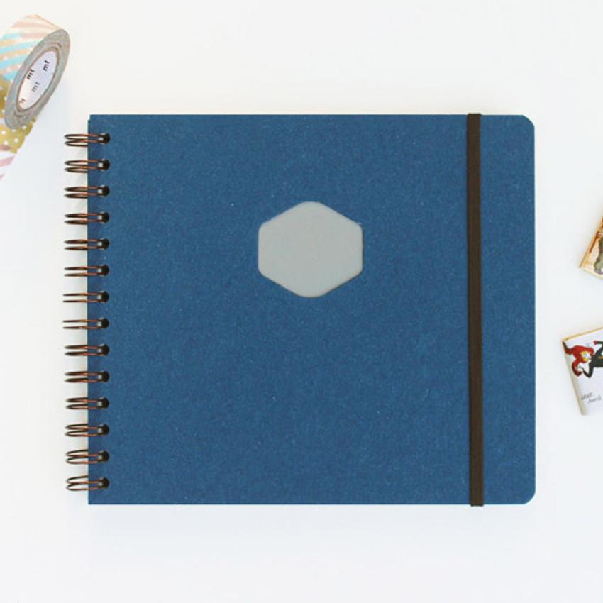 Sapphire - Les naturals wirebound scrap notebook
