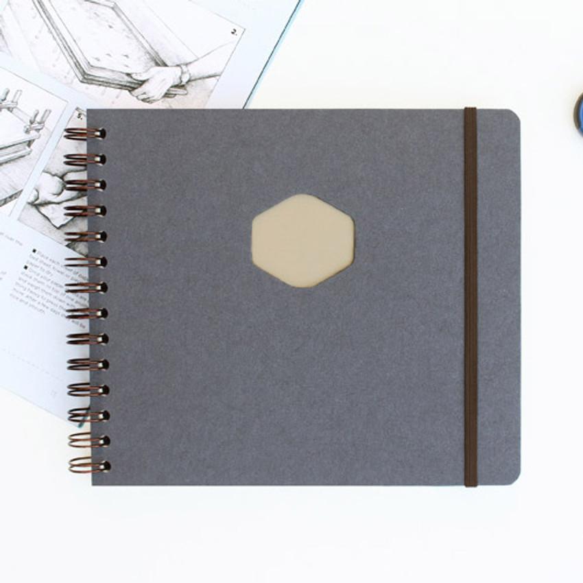 Gray - Les naturals wirebound scrap notebook