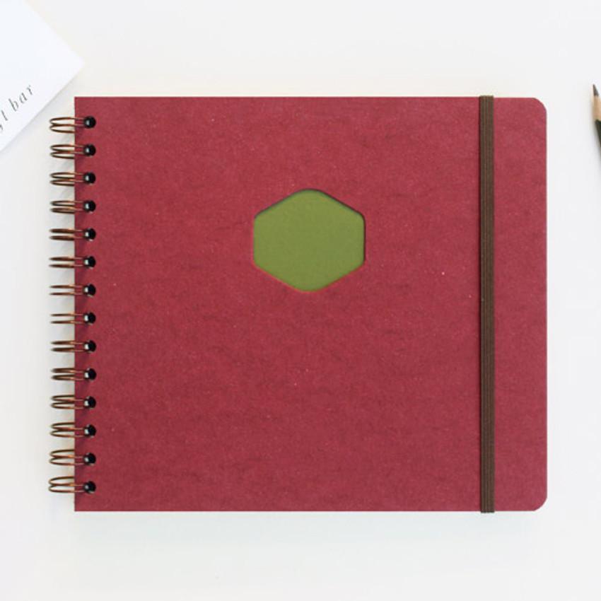 Scarlet - Les naturals wirebound scrap notebook