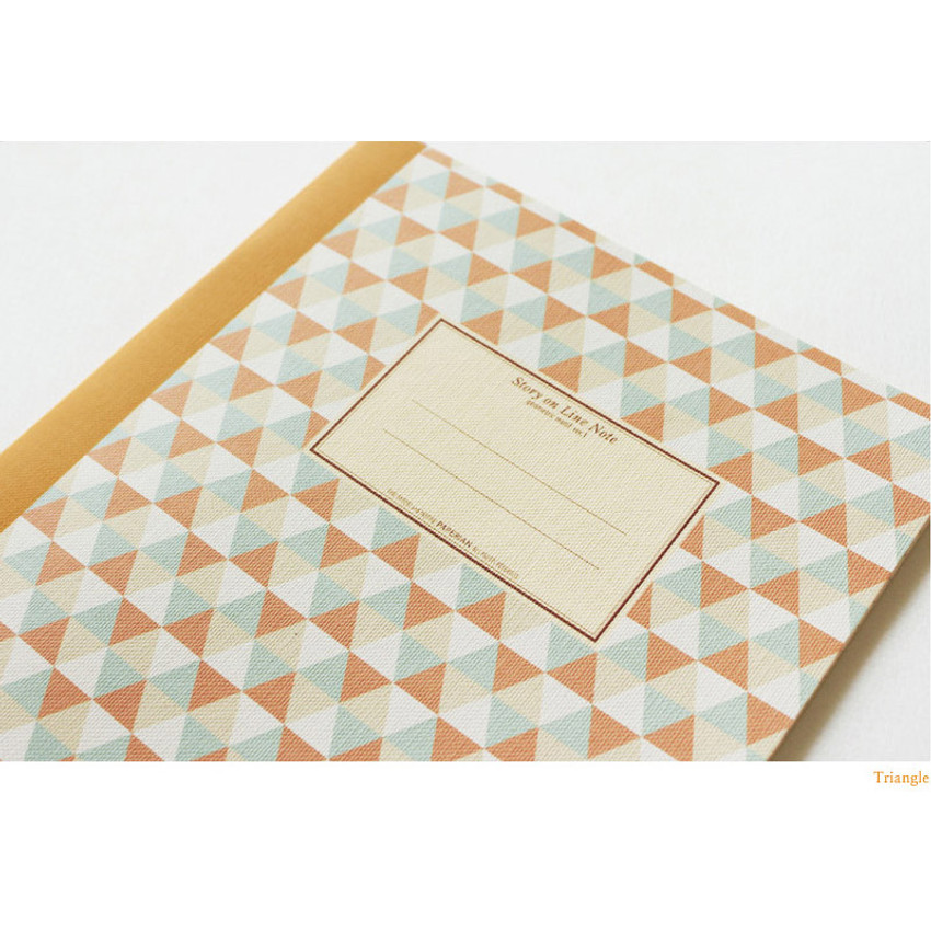 Triangle - Story on geometric motif lined notebook