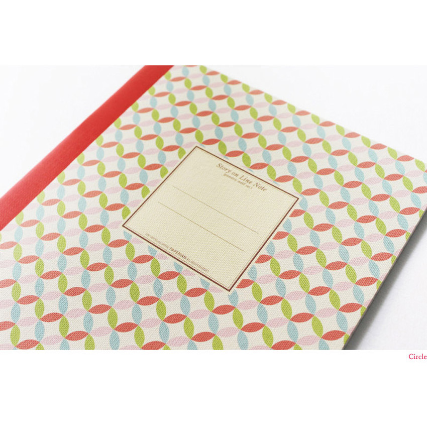 Circle - Story on geometric motif lined notebook