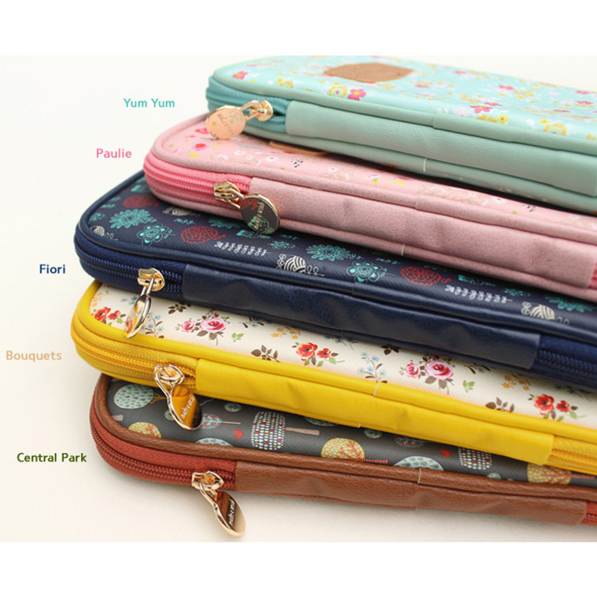 Colors of Blossom garden multi zipper pouch