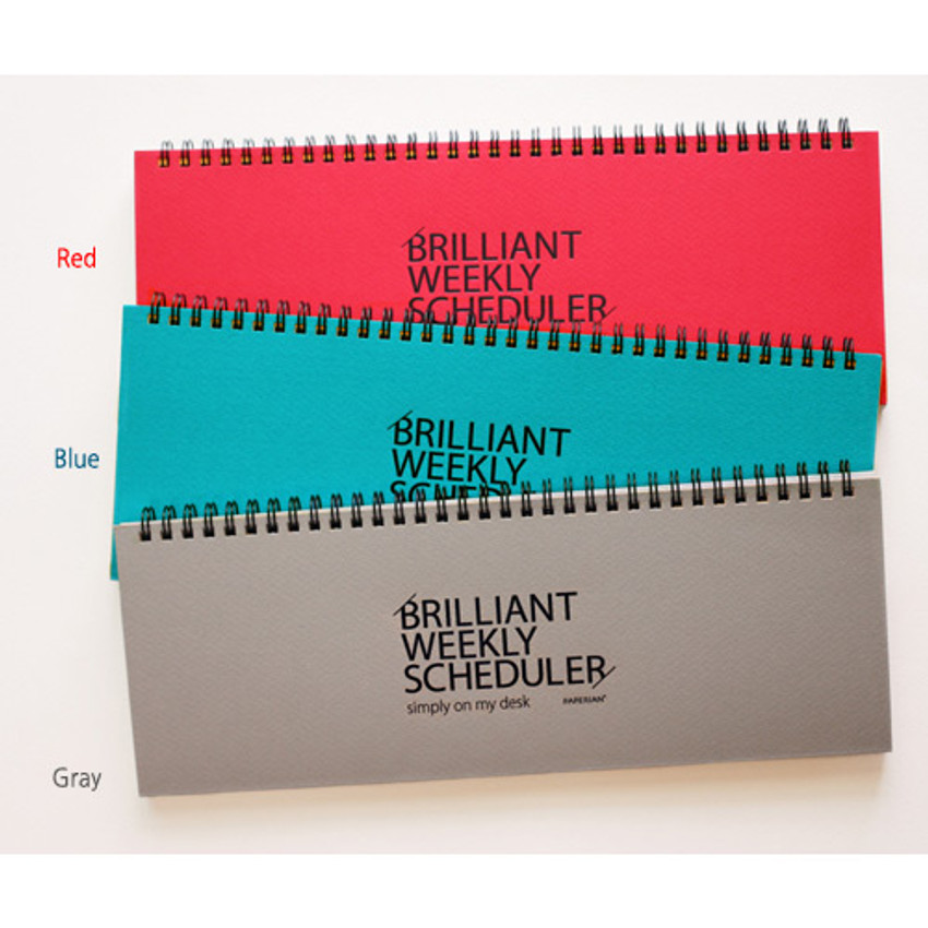 Colors of Brilliant weekly desk scheduler memo note
