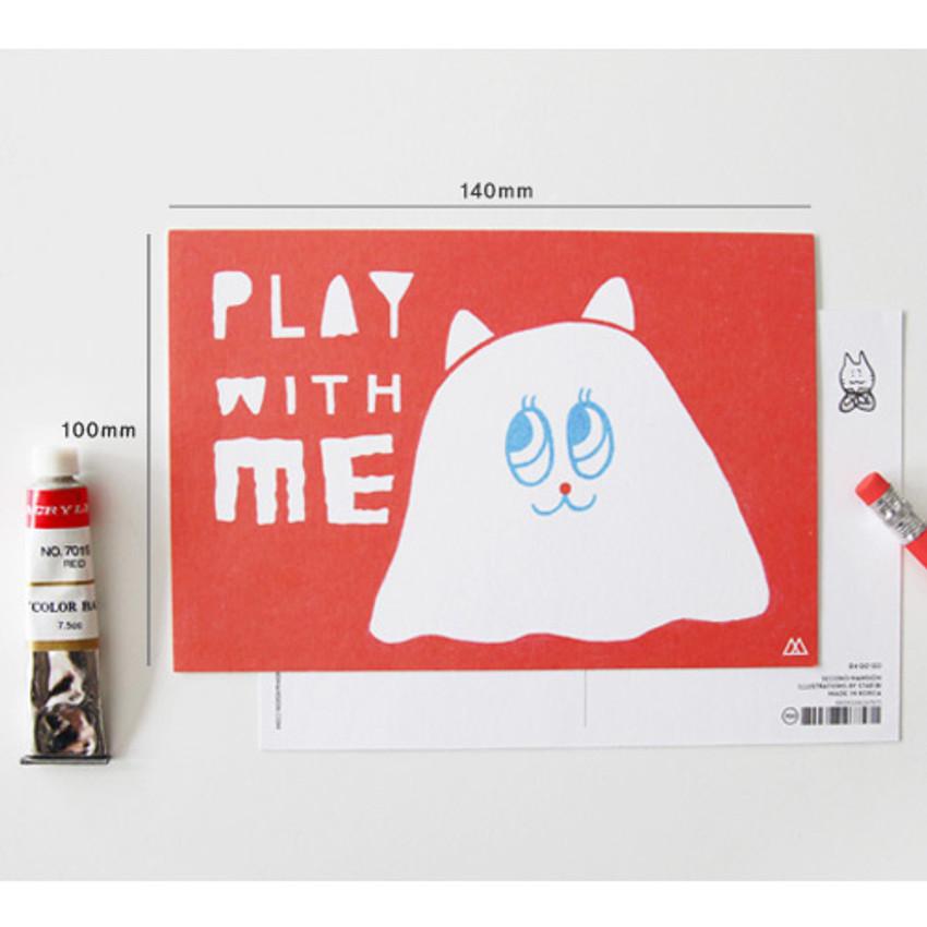 Size of Star bi illustration cute message card