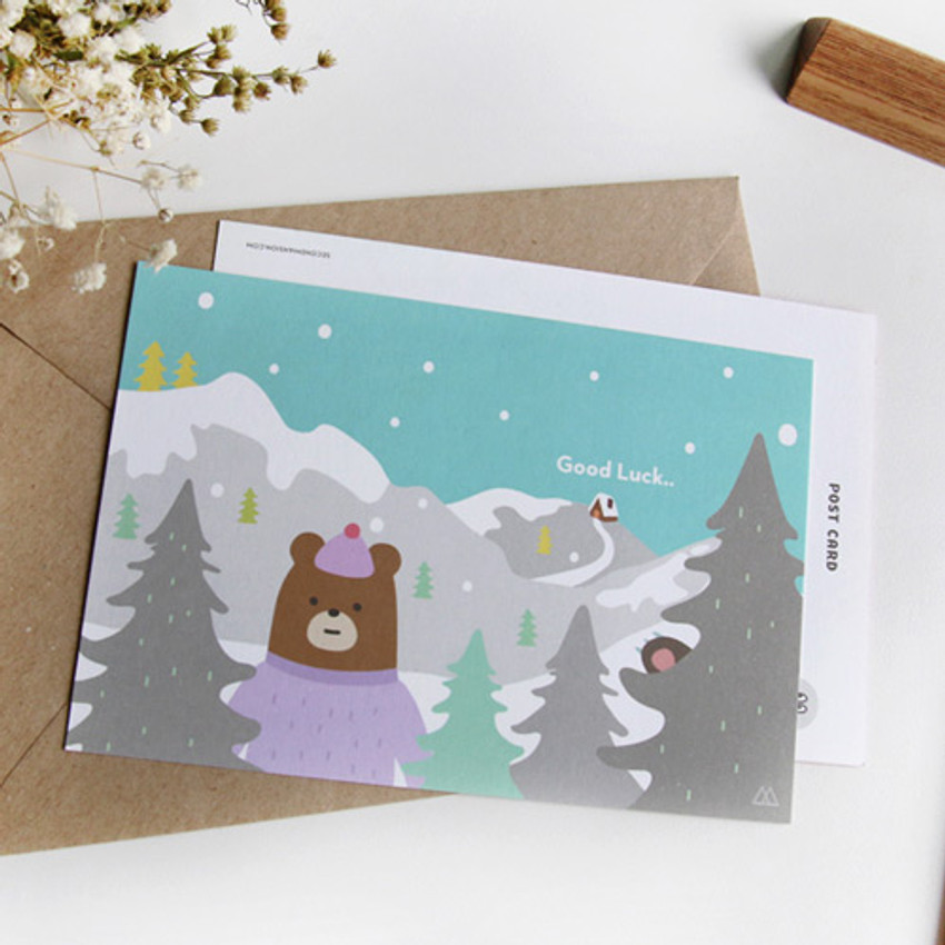 I'll go with you illustration message card