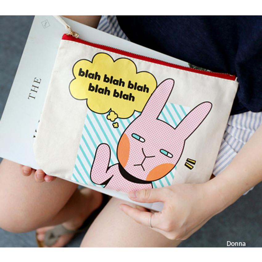 Donna - Hellogeeks pop art canvas pouch
