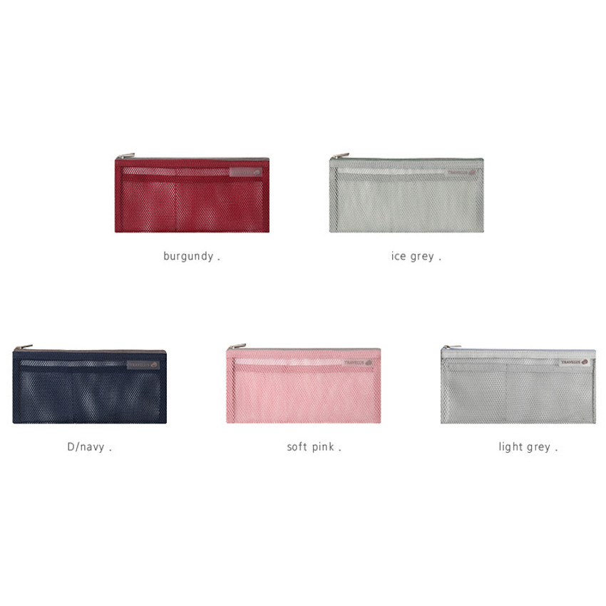 Colors of Travelus slim long mesh pouch ver.3
