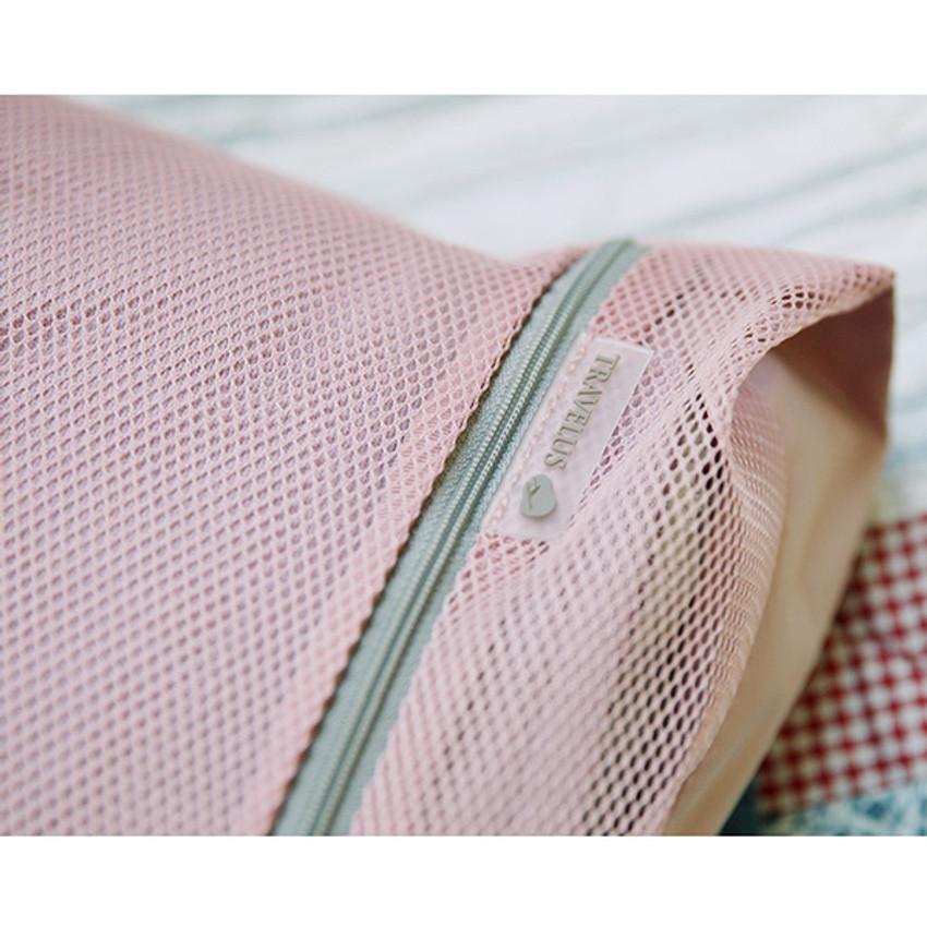 Detail of Travelus mesh packing organizer bag XXL ver.2