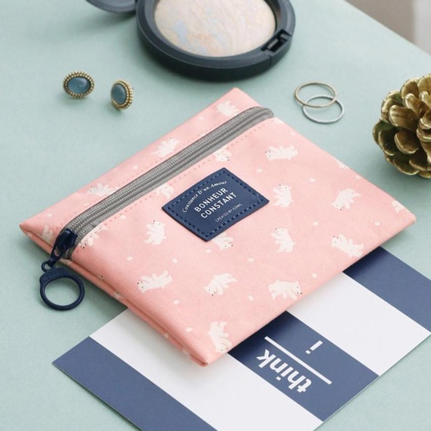 Bear - Basic pattern small zipper pouch ver.2