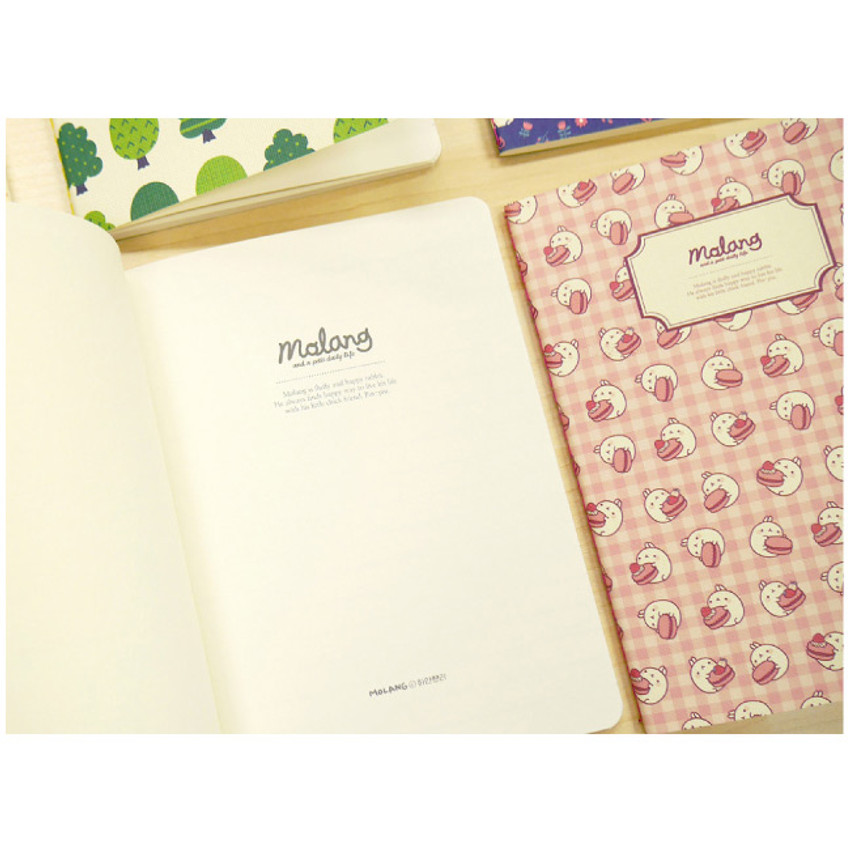 Molang pattern lined notebook ver.1