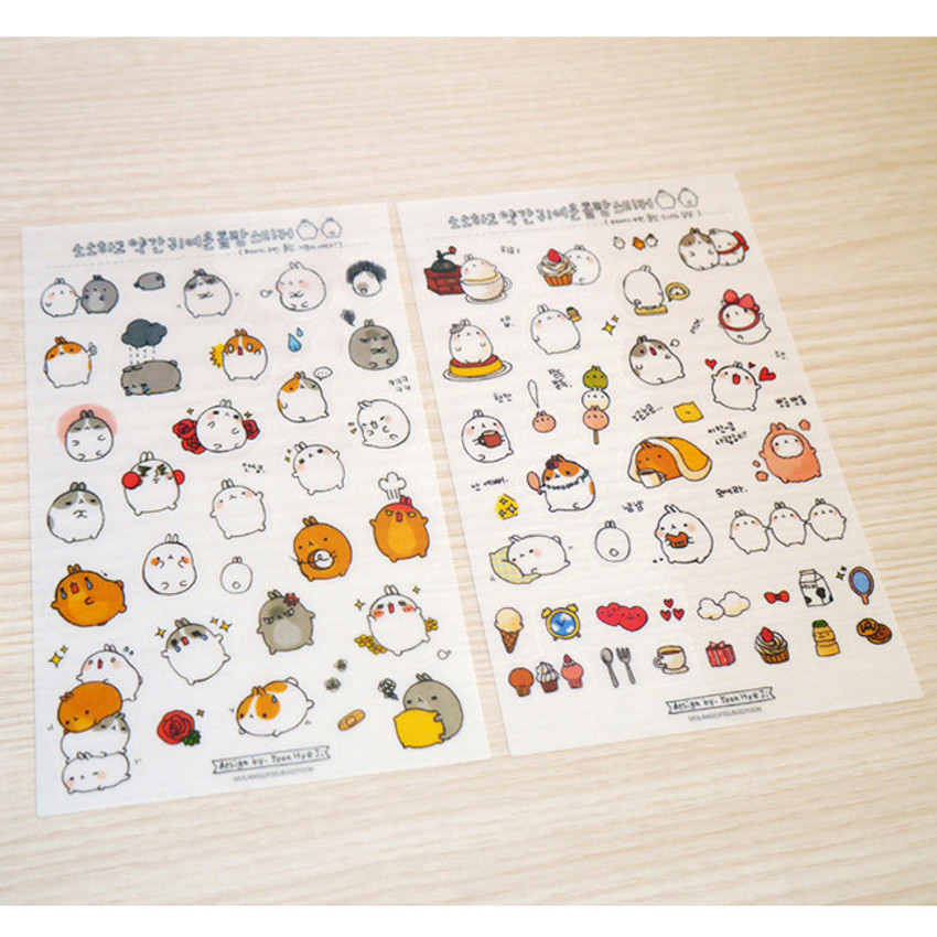 Molang cute deco sticker set ver.1