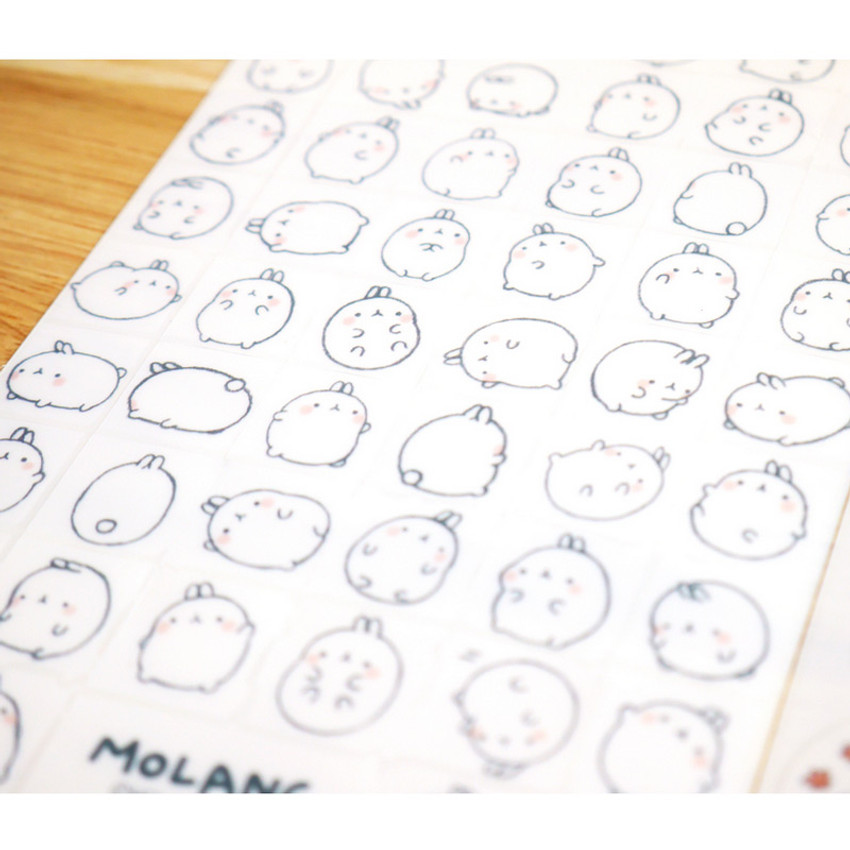 Molang cute deco sticker set ver.2