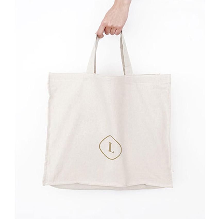Natural - Invite.L Linen 3 rectangle eco tote bag