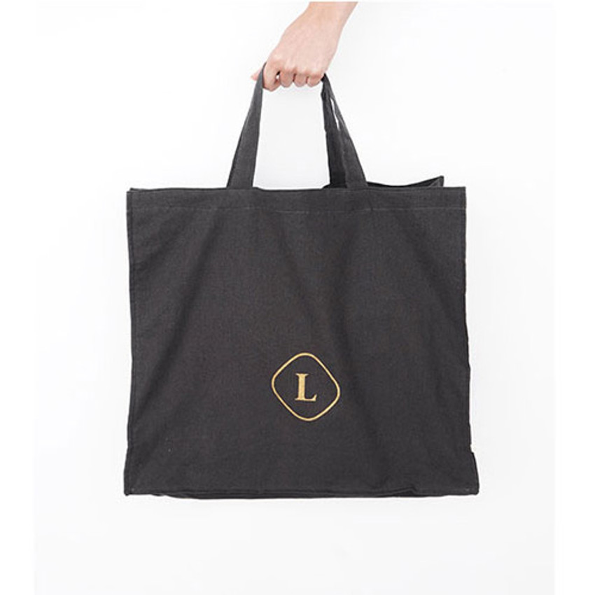 Charcoal - Invite.L Linen 3 rectangle eco tote bag
