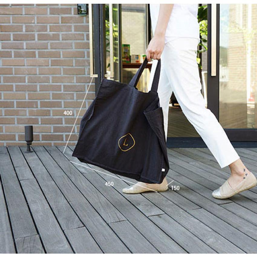 Size of Invite.L Linen 3 rectangle eco tote bag