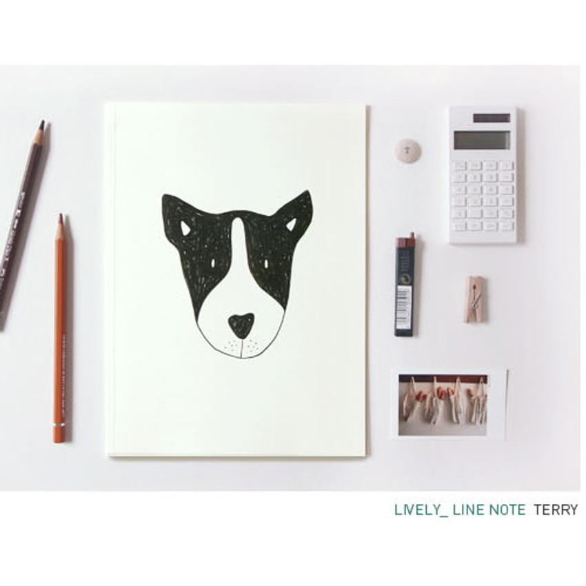 Terry - Pattern lively lined notebook