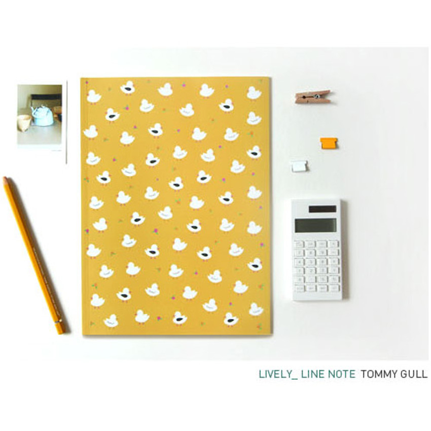 Tommy gull - Pattern lively lined notebook