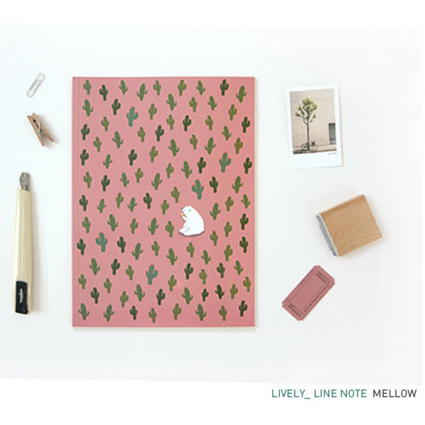 Mellow - Pattern lively lined notebook