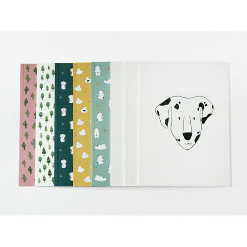 Pattern lively lined notebook