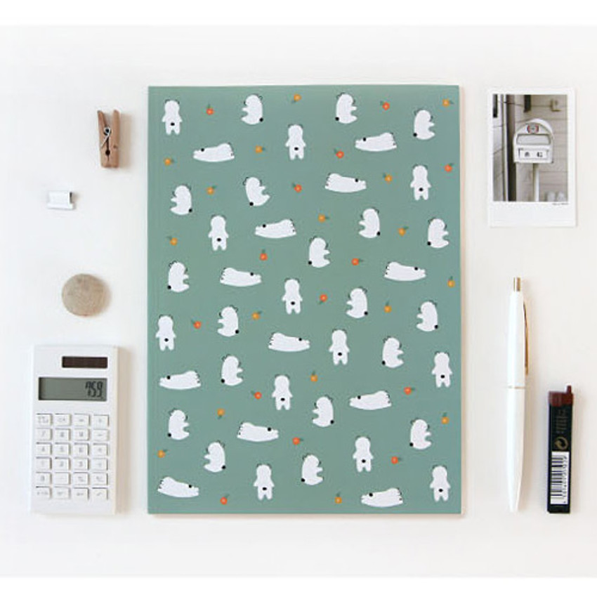 Gom Gom - Pattern lively lined notebook
