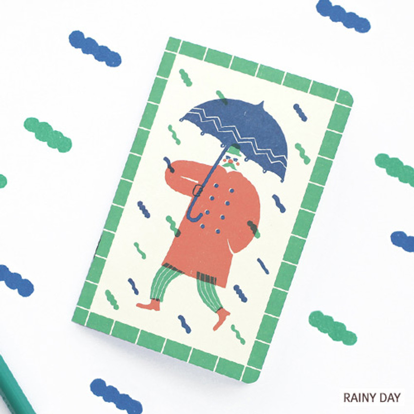 Rainy day - Breezy day small lined notebook