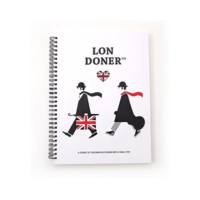 White - London wirebound lined notebook