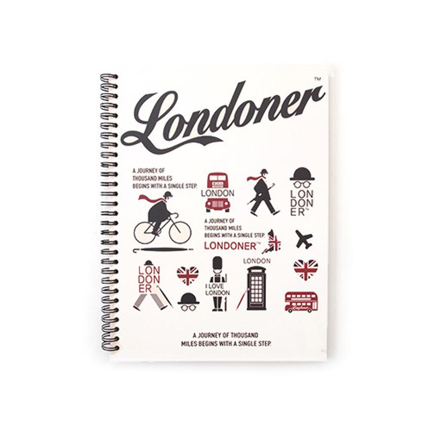 Ivory - London wirebound lined notebook