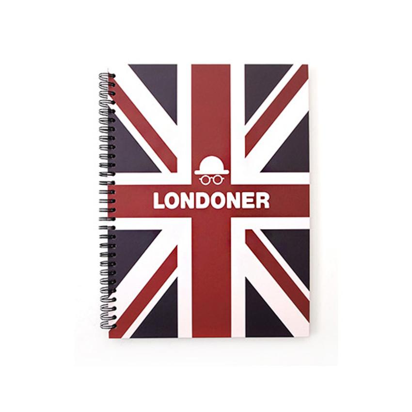 Dark - London wirebound lined notebook