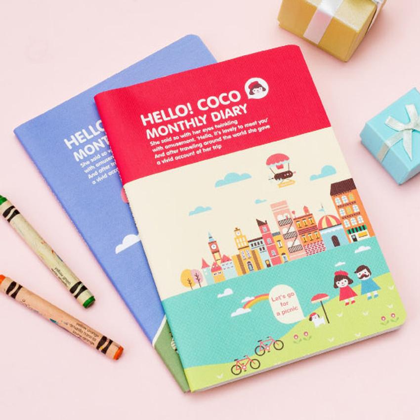 2016 Ardium Hello coco monthly dated diary