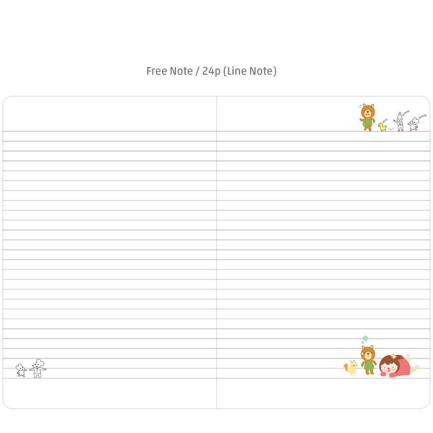 Free note - 2016 Hello coco monthly dated diary