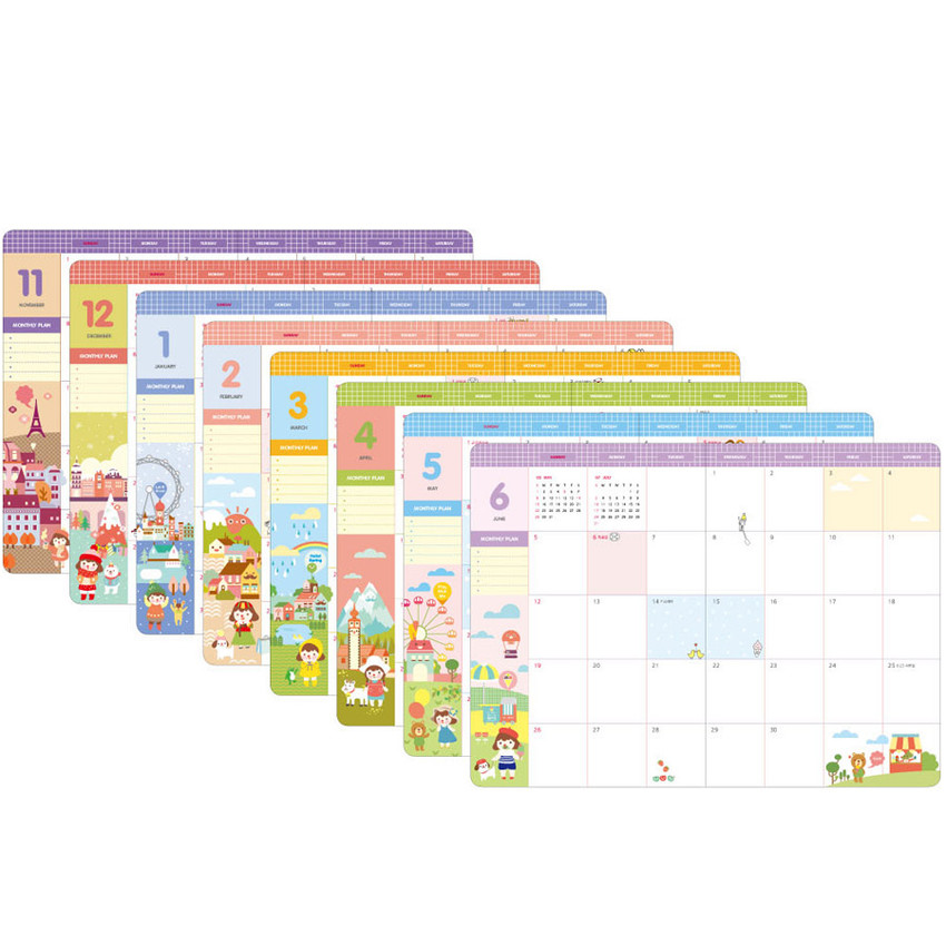 Monthly plan - 2016 Hello coco monthly dated diary