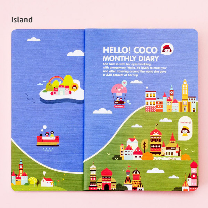 Island - 2016 Hello coco monthly dated diary
