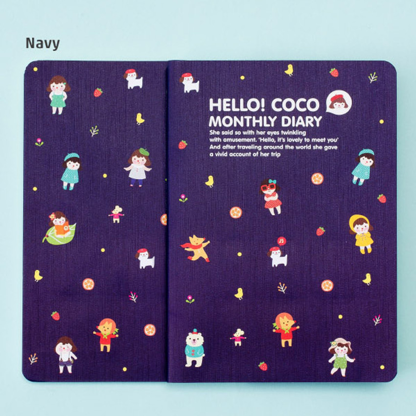 Navy - 2016 Hello coco monthly dated diary