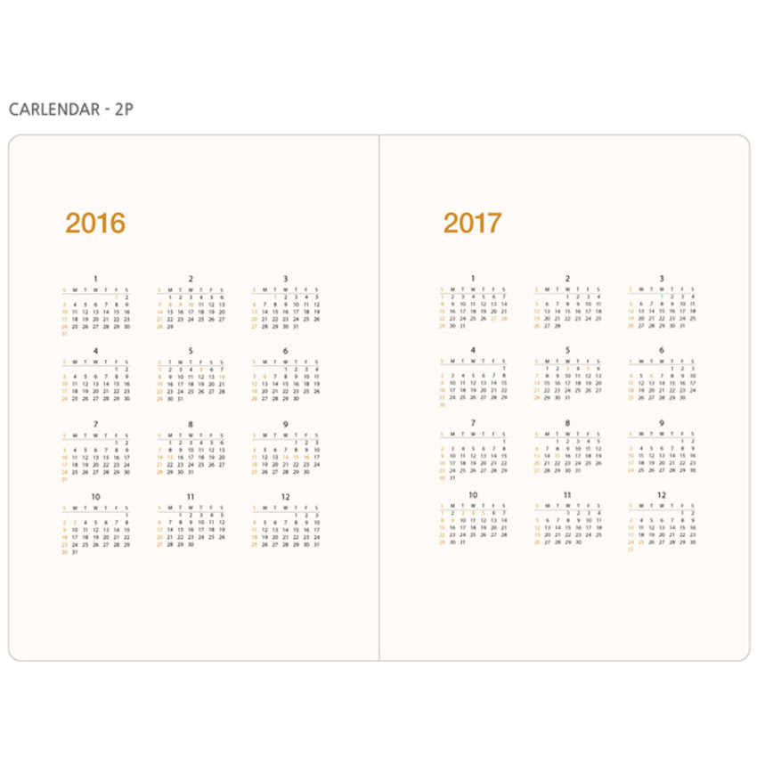 Calendar - 2016 Record weekly dated large planner