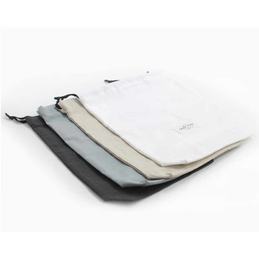 Natural and Pure fabric gentle drawstring pouch