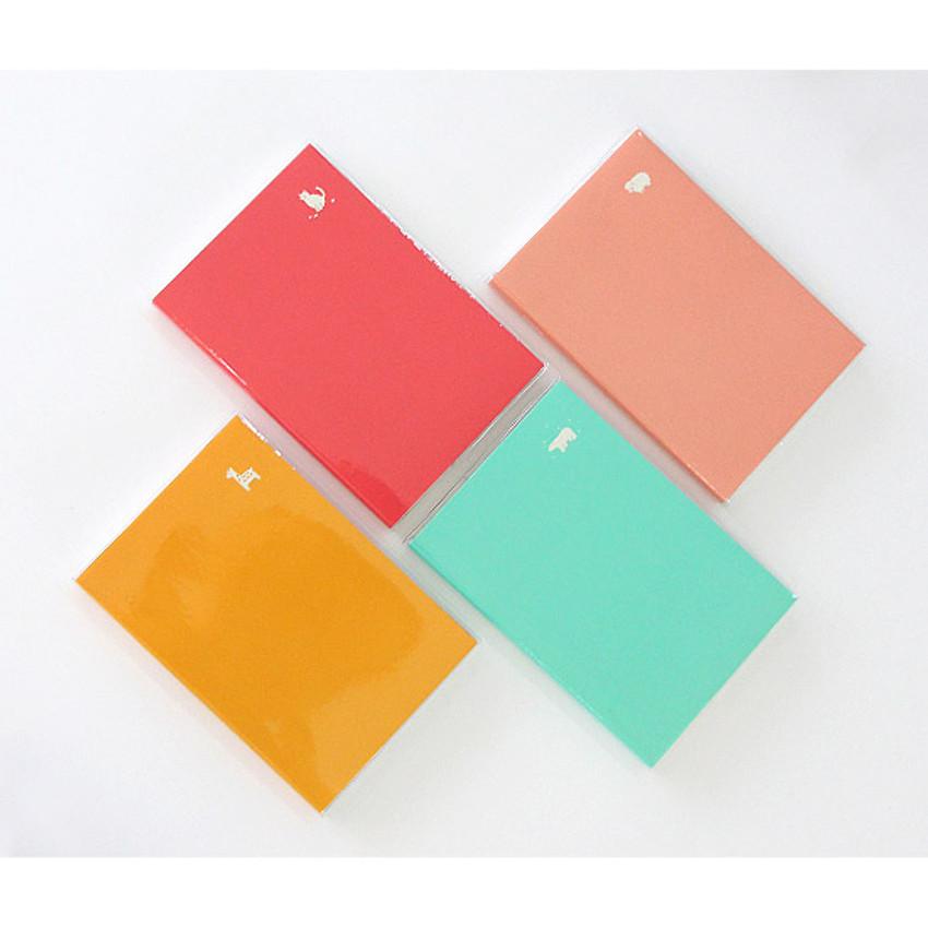 Yellow, Hot pink, Mint, Light pink