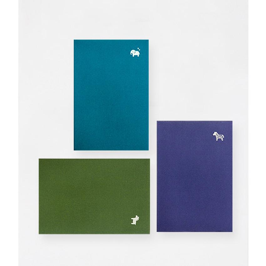 Mint blue, Olive, Violet