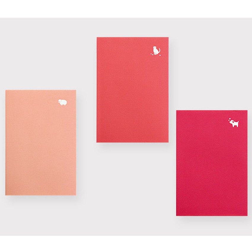 Light pink, Hot pink, Red