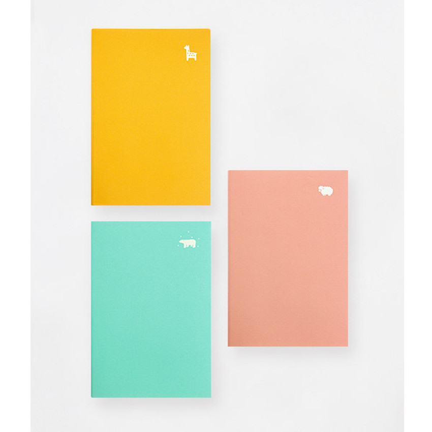 Yellow, Mint, Light pink