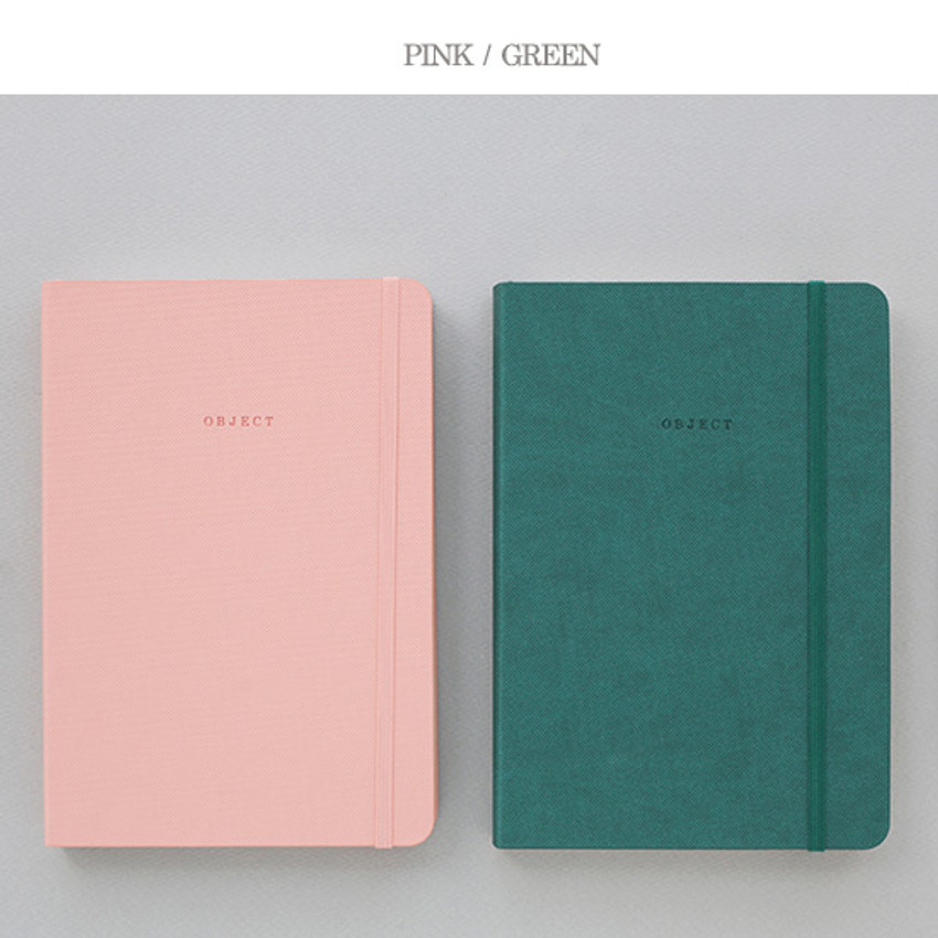 Pink, Green - 2016 Object dated weekly diary
