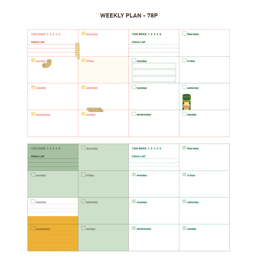Weekly plan - Du dum daily 365 undated diary