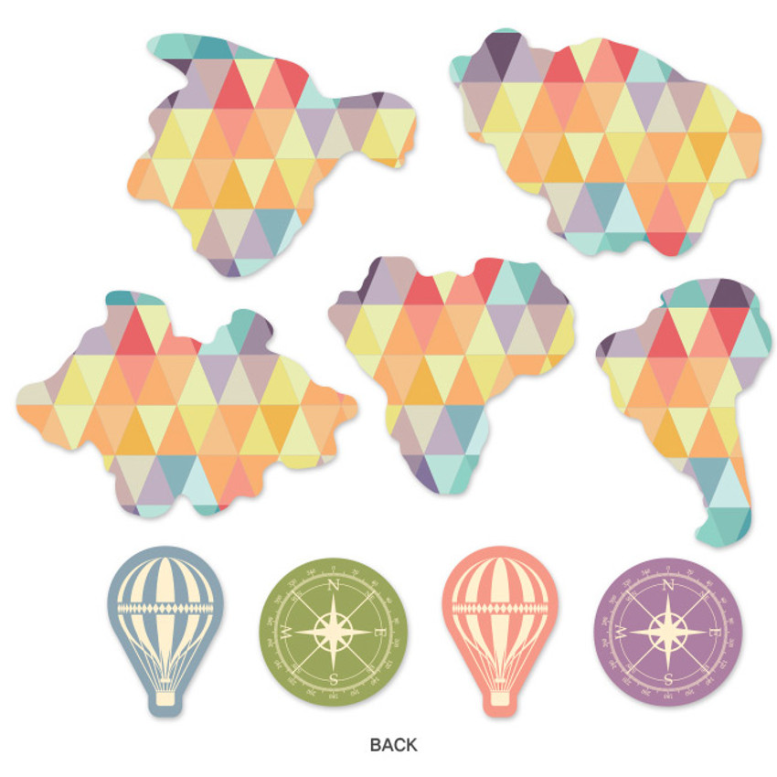Pastel - World map travel ground garland