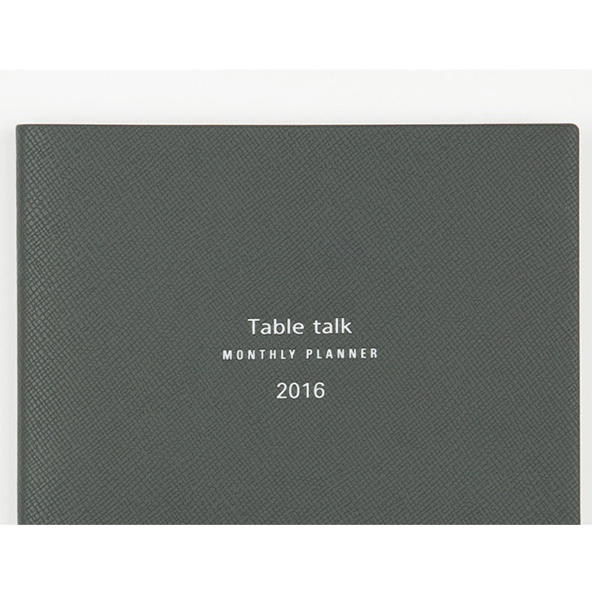 2016 Table talk B6 dated monthly planner